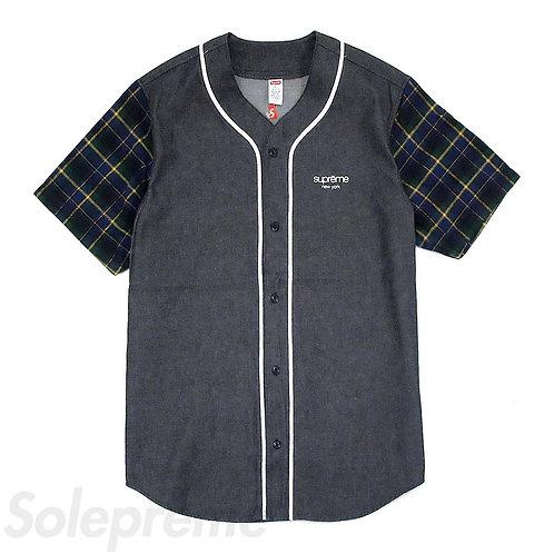 Supreme Flannel Baseball Jersey