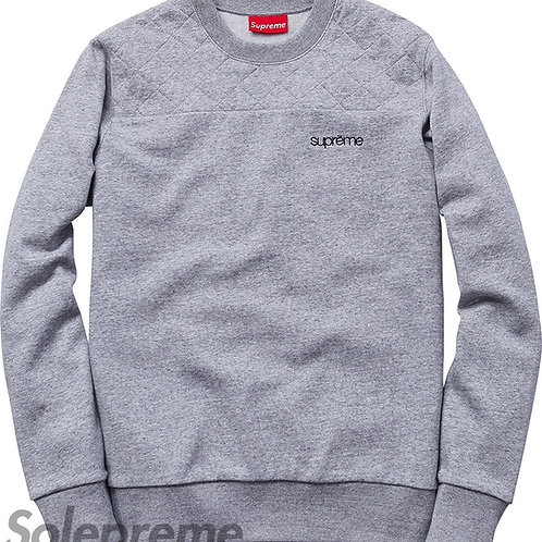 Supreme Quilted Panel Crew Neck