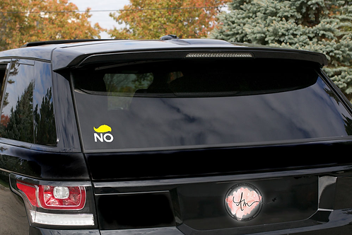 No to 45 Decal