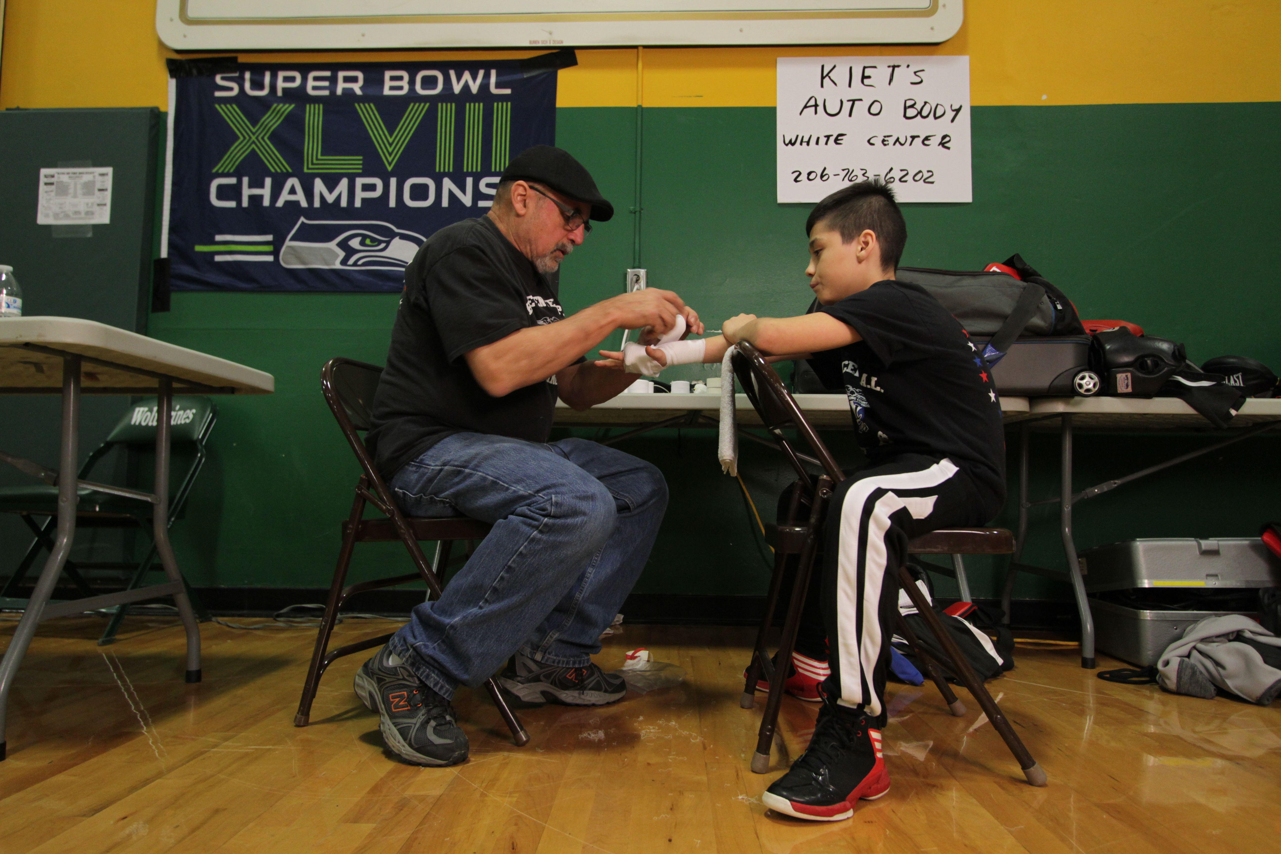 Coach Tony and Estiven, 11
