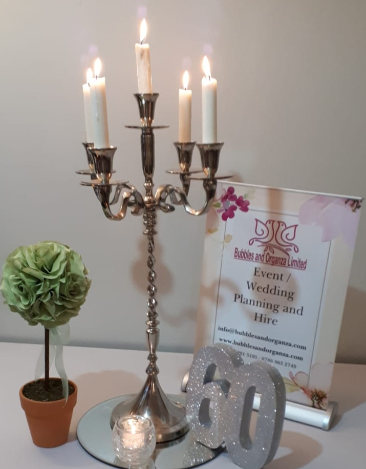 5 arm candleabra