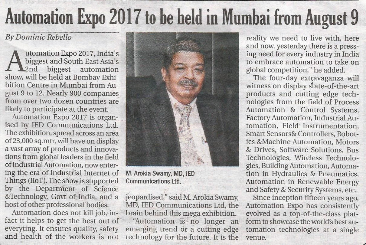 IED - The Afternoon Despatch & Courier, pg 31st' 2017