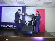 "Unveiling of ""Neo mascot"" at Novus X.0 inauguration"