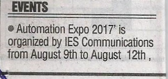 Automation Expo -The Free Press Journal (1), pg 10, August 10th' 2017