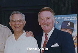 Vin Scully and René Cárdenas