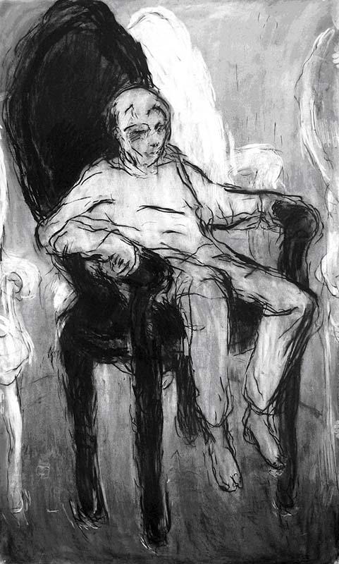 white boy on the black chair