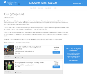 Running with the Berkshire Trail Runners