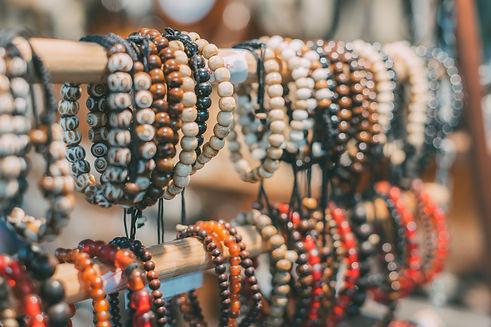 Handmade jewellery bracelets on the mark