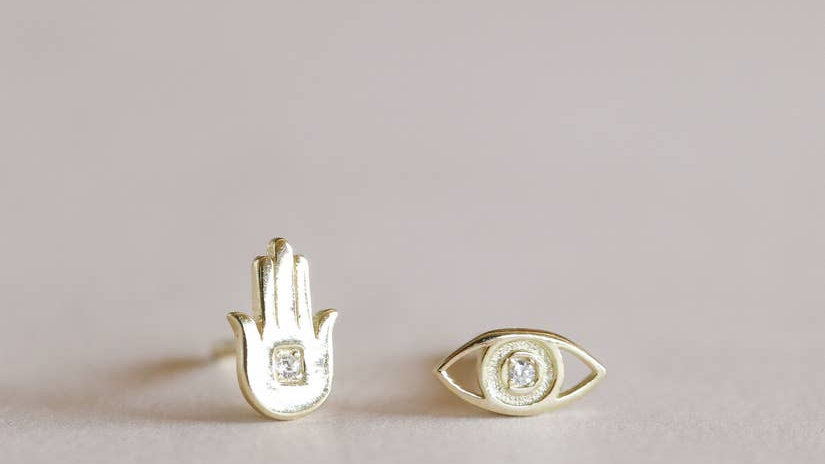 Hand & Eye Earrings