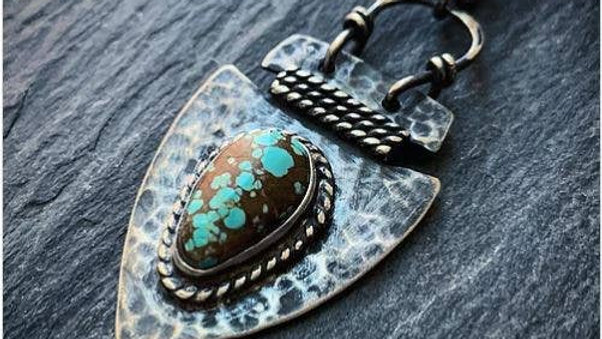 Turquoise Arrowhead Pendant