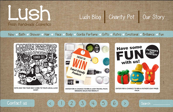 Lush Re-brand