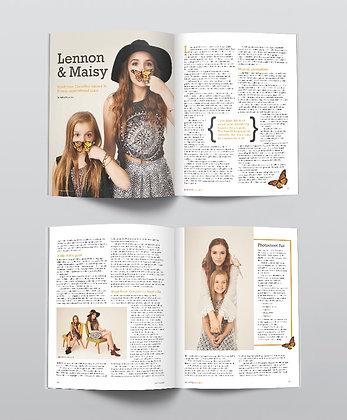 Lennon & Maisy Magazine Spreads
