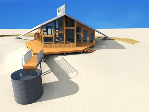The Eagles Landing Beach-House [under construction]
