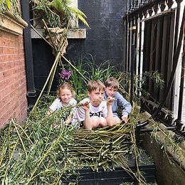 The nest fits all.. great fun & pretty c