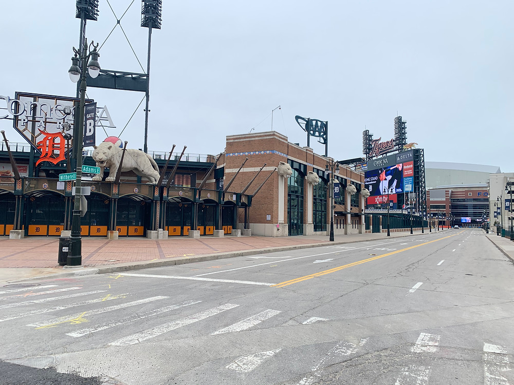 Comerica Park home of the Detroit Tigers.