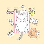 cartoon-cute-summer-cat-beach_39961-1115