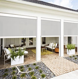 Exterior Roller Shades Bubble
