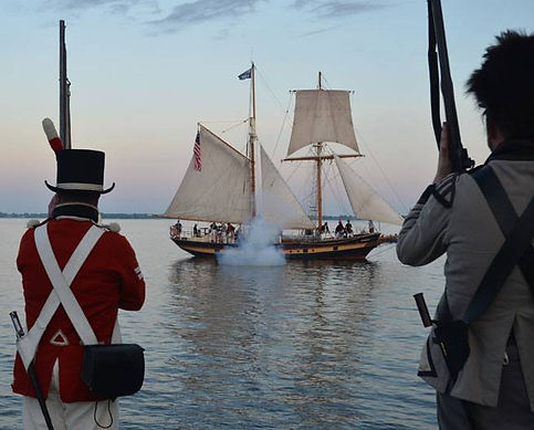 Historical reenactors from 2016 Gunboat Weekend Bath, Ontario