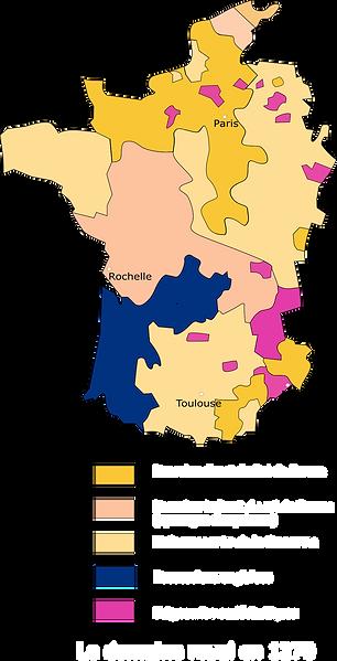 Le domaine royal en 1270