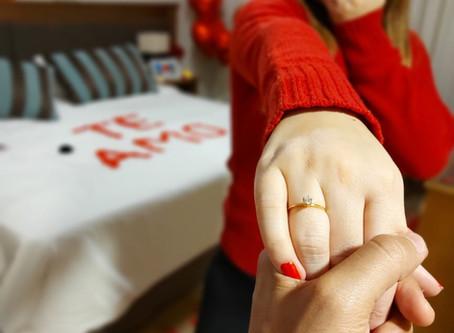 Pedido de Casamento no quarto do Hotel Bavaria Sport em Gramado-RS