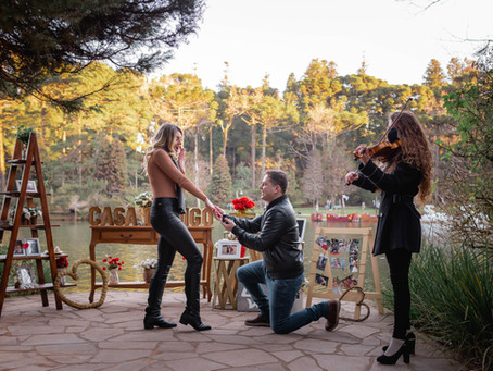 Pedido de Casamento mais lindo que você já viu - Lago Nego em Gramado