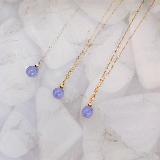 Blue Lace Agate Necklace