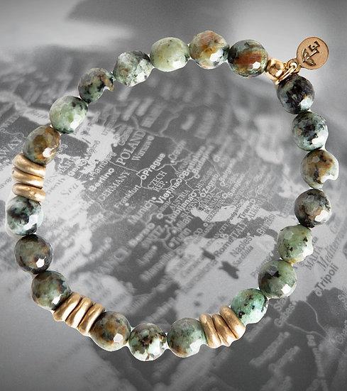African Turquoise Gemstone Bracelets