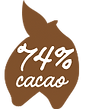 74 procent cacao Magic Chocolates