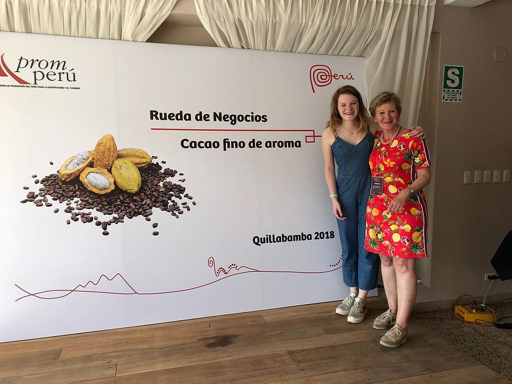 Helga en Ines van Magic Chocolates op reis in Peru.