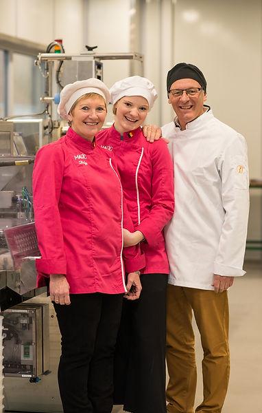 Helga, Ines en Guy van Magic Chocolates in Wetteren