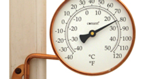 "Vermont 4"" Dial Thermometer (Living Finish Copper)"