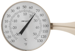 "Décor 8"" Dial Thermometer (Satin Nickel)"
