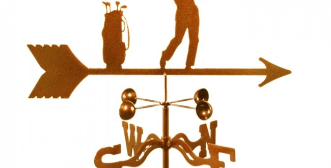 Golfer Male Weathervane