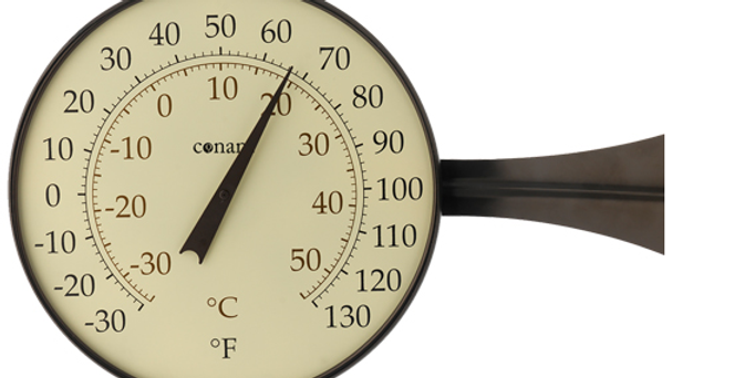 "Décor 8"" Dial Thermometer (Bronze Patina)"