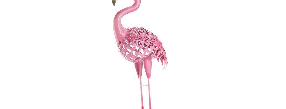 Solar Pink Flamingo Standing