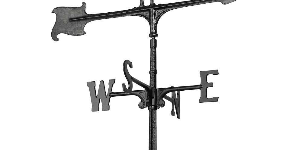 30  Rooster Accent Weathervane - Black