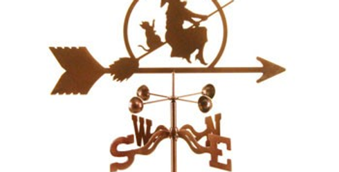 Witch on a Broomstick Weathervane