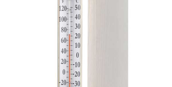"Vermont Grande View 12"" Thermometer (Living Finish Brass)"