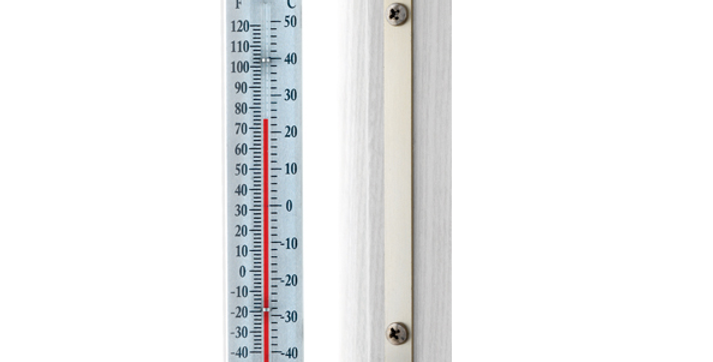 "Décor Indoor/Outdoor 7""Thermometer (Satin Nickel)"