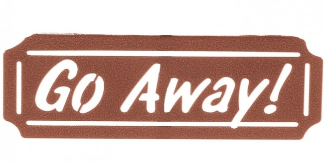 Go Away Sign for Weathervanes