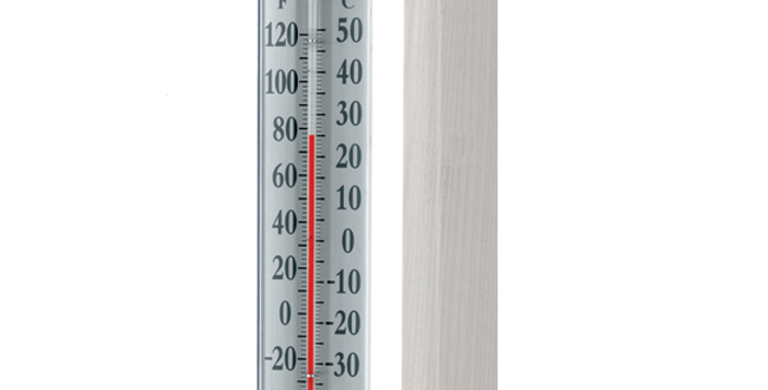 "Décor Grande View 12"" Thermometer (Satin Nickel)"