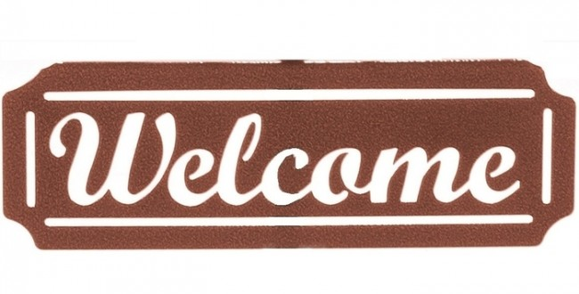 Welcome Sign for Weathervanes