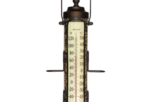 "Grande View Bird Feeder Thermometer 18"""