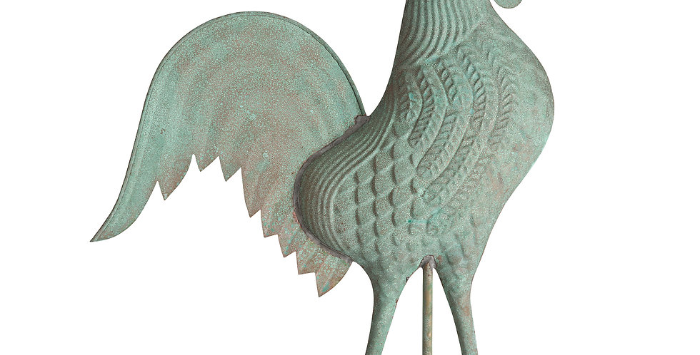 Copper Rooster Weathervane - Verdigris finish