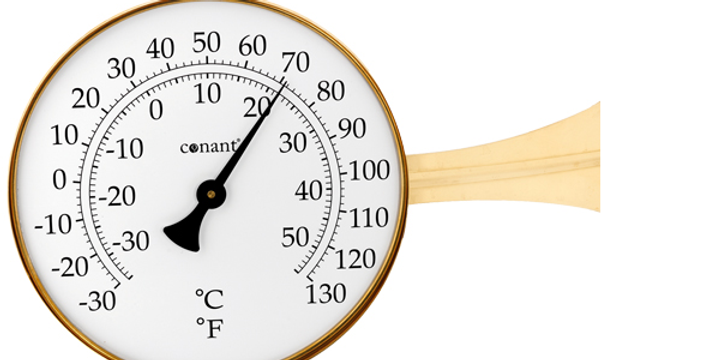 """Vermont 8"""" Dial Thermometer (Living Finish Brass)"""