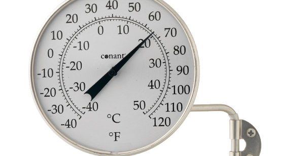 "Décor 4"" Dial Thermometer (Satin Nickel)"