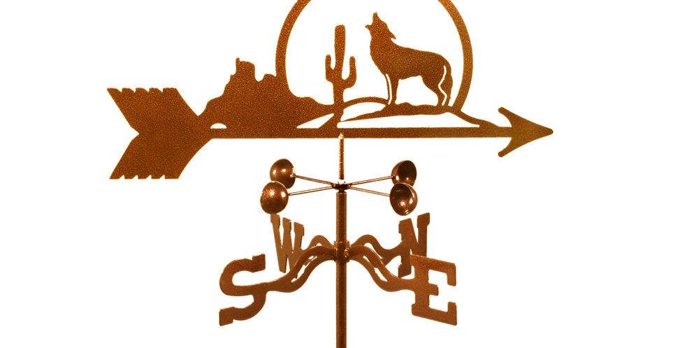 Coyote With Cactus Weathervane