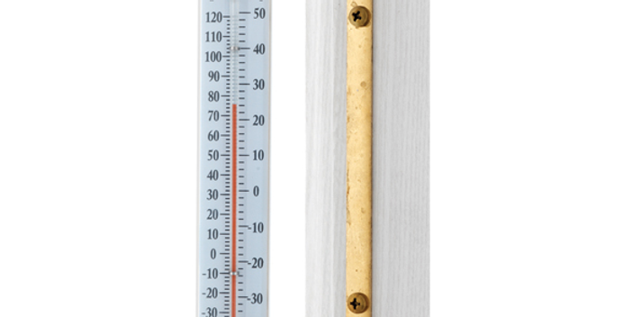 """Vermont Indoor/Outdoor 7"""" Thermometer (Living Finish Brass)"""