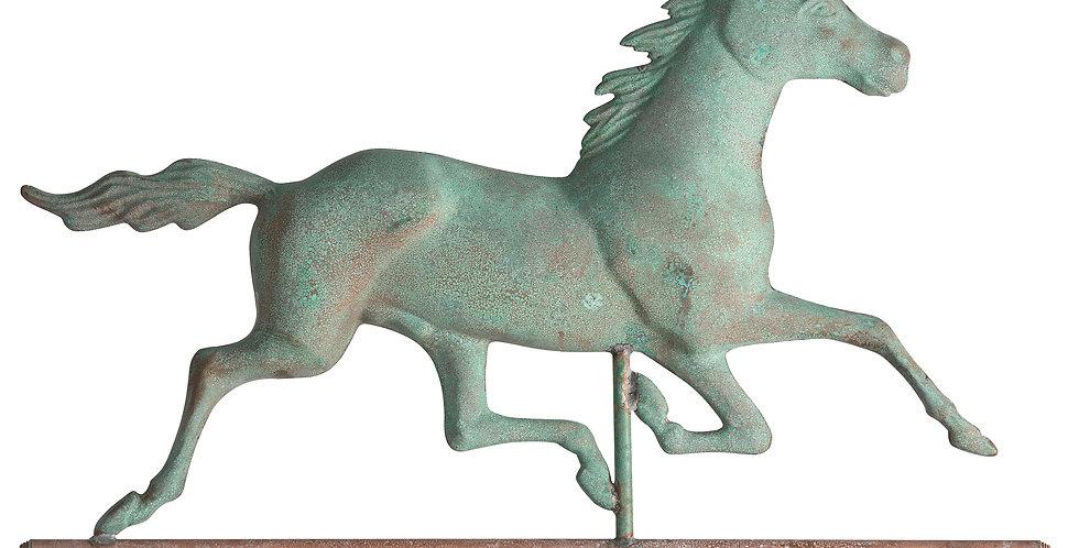 Copper Horse Weathervane - Verdigris finish