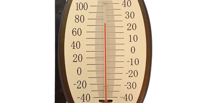Décor Vintage Oval Thermometer